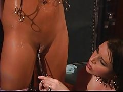 Lesbos seduction and ass spanking