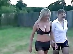 Two British Milfs in Stocking Taking Hot Cum Facials