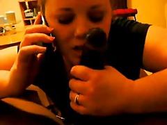 Cheating Wife on Phone With Husband While Sucking a BBC