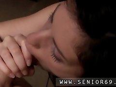 Horny senior bruce spots a cute woman sitting behind a