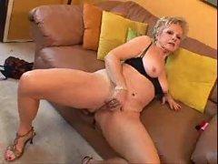 Granny with big clit