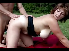 Busty Hairy Mature Fucked In The Countryside 2