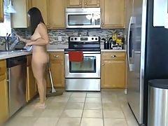 Naked House cleaning 1