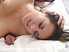 Hot Brunette MILF With Big Naturals Fucked With A Creampie