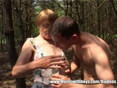 Horny Old Mama Gets Some Young Meat