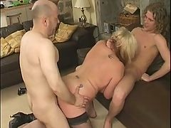 Baldy and Curly do a British Blonde BBW