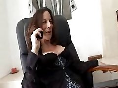 Mature sexy lady seduced by a janitor