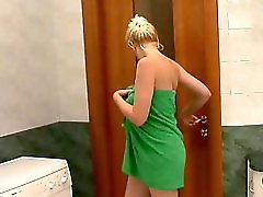 Horny Blonde mom fucked in Shower