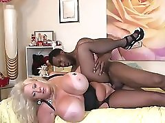 Monster boobs Kayla and black cock