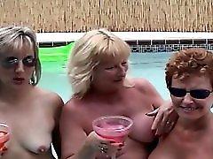3 Slutty GRANNIES public SEX