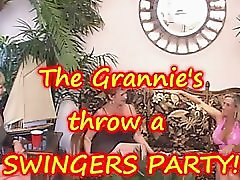 Granny throws a YOUNG vs OLD Swingers Party