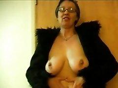 Granny Displays her Breasts
