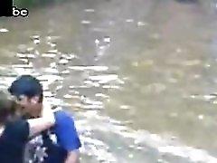 Drunk Milf Fucks A Boy In The River