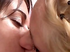 Two girls have fun with one dick Triple X Home Video