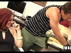 Jessica Ryan Sexy Female Boss Finds Hard Cock In Her Lonely Office