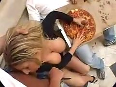 Swedish Celeb & BBW Sarah Dawn Finer Doing Porn Fucked By Two Pizza Guys!