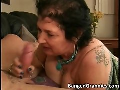 Nasty dirty milf hoe sucking hard cock and jerking it w