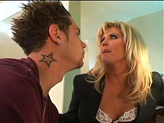Blonde milf fucked by younger guy