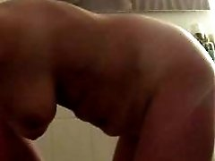 Spycam on my mature GF in the shower and getting a cum shot