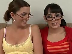Two innocent girls have fun